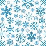 Sneeuwvlokken Naadloos Patroon Stock Afbeelding