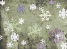 Sneeuwvlokken op grungy achtergrond Royalty-vrije Stock Foto's