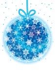 Sneeuwvlokken rond Kerstmis Ball_eps Stock Fotografie
