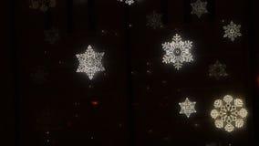 Sneeuwvlokken van Licht stock videobeelden