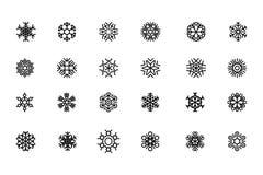 Sneeuwvlokken Vectorpictogrammen 2 Royalty-vrije Stock Afbeelding