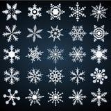 Sneeuwvlokken - vectorreeks Royalty-vrije Stock Afbeelding