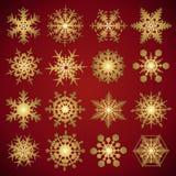 Sneeuwvlokken - vectorreeks Royalty-vrije Stock Afbeeldingen