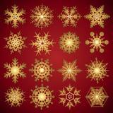 Sneeuwvlokken - vectorreeks Stock Foto's