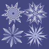 Sneeuwvlokken voor het ontwerp dat van de Kerstmiswinter worden geplaatst Royalty-vrije Stock Afbeelding