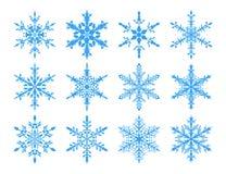 Sneeuwvlokken voor ontwerpkunstwerk Stock Afbeeldingen