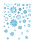 Sneeuwvlokken voor ontwerpkunstwerk Stock Afbeelding