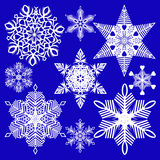 Sneeuwvlokken voor ontwerpkunstwerk stock foto