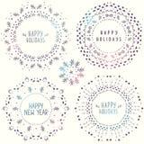 Sneeuwvlokken voor ontwerpkunstwerk Royalty-vrije Stock Foto