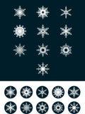 Sneeuwvlokken voor ontwerpkunstwerk Royalty-vrije Stock Afbeelding