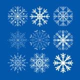 Sneeuwvlokken voor ontwerpkunstwerk Royalty-vrije Stock Afbeeldingen