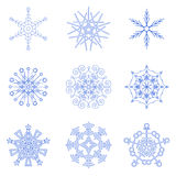 Sneeuwvlokken voor uw ontwerp Royalty-vrije Stock Afbeeldingen