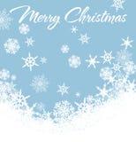 Sneeuwvlokken Vrolijke Kerstkaart Royalty-vrije Stock Afbeelding