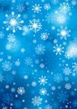 Sneeuwvlokkenachtergrond Royalty-vrije Stock Foto's