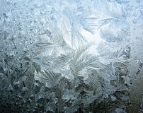 Sneeuwvlokkenijs op achtergrond van de glas de abstracte textuur royalty-vrije stock afbeeldingen