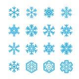 Sneeuwvlokkenpictogram Stock Foto