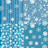 Sneeuwvlokpatroon Naadloze textuur Het concept van Kerstmis en van het Nieuwjaar Royalty-vrije Stock Afbeeldingen
