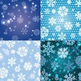 Sneeuwvlokpatroon Naadloze textuur Het concept van Kerstmis en van het Nieuwjaar Royalty-vrije Stock Fotografie