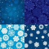 Sneeuwvlokpatroon Naadloze textuur Het concept van Kerstmis en van het Nieuwjaar Stock Afbeelding