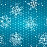 Sneeuwvlokpatroon Naadloze textuur Het concept van Kerstmis en van het Nieuwjaar Royalty-vrije Stock Foto