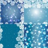 Sneeuwvlokpatroon Naadloze textuur Het concept van Kerstmis en van het Nieuwjaar Royalty-vrije Stock Foto's