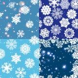 Sneeuwvlokpatroon Naadloze VectorTextuur Het concept van Kerstmis en van het Nieuwjaar Royalty-vrije Stock Fotografie
