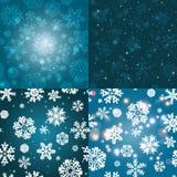 Sneeuwvlokpatroon Naadloze VectorTextuur Het concept van Kerstmis en van het Nieuwjaar Stock Afbeeldingen