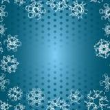 Sneeuwvlokpatroon Naadloze VectorTextuur Het concept van Kerstmis en van het Nieuwjaar Royalty-vrije Stock Afbeelding