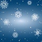 Sneeuwvlokpatroon Naadloze VectorTextuur Het concept van Kerstmis en van het Nieuwjaar Royalty-vrije Stock Foto