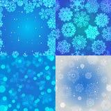 Sneeuwvlokpatroon Naadloze VectorTextuur Het concept van Kerstmis en van het Nieuwjaar Stock Afbeelding