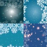 Sneeuwvlokpatroon Naadloze VectorTextuur Het concept van Kerstmis en van het Nieuwjaar Royalty-vrije Stock Foto's
