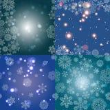 Sneeuwvlokpatroon Naadloze VectorTextuur Het concept van Kerstmis en van het Nieuwjaar Royalty-vrije Stock Afbeeldingen