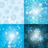 Sneeuwvlokpatroon Naadloze VectorTextuur Het concept van Kerstmis en van het Nieuwjaar Stock Foto's