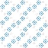 Sneeuwvlokpatroon - Sneeuwvlok vectorpatroon Naadloos voor kaarten en Web Stock Afbeelding