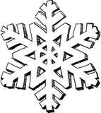 Sneeuwvlokschets Stock Foto