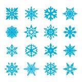Sneeuwvlokvector royalty-vrije illustratie