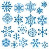 Sneeuwvlokvectoren Stock Afbeeldingen