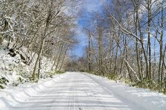 Sneeuwweg Royalty-vrije Stock Fotografie