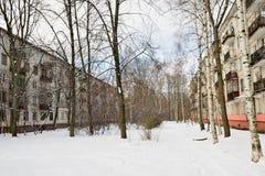 Sneeuwwerfvierkant in St. Petersburg Stock Foto's