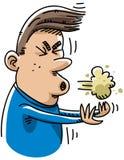 sneeze κινούμενων σχεδίων Στοκ φωτογραφία με δικαίωμα ελεύθερης χρήσης