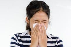 sneeze стоковая фотография rf