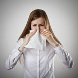 Sneeze and allergy concept. Stock Images