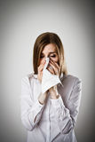 Sneeze and allergy concept. Stock Image