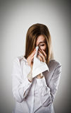 Sneeze and allergy concept. Royalty Free Stock Photos