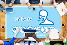 Sneeze Allergy Disorder Sickness Healthcare Concept Royalty Free Stock Images