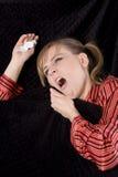 Sneeze bed stock photo