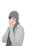 Sneeze cold woman Royalty Free Stock Images
