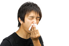 Sneeze man Royalty Free Stock Photo