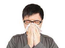 Sneeze man Stock Photography