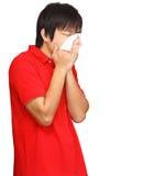 Sneeze man Royalty Free Stock Photos